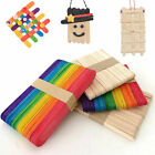 50pcs Wooden Popsicle Sticks for Party Kids DIy Crafts Ice Cream Pops Making