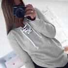 Fashion Women Long Sleeve Hoodies Sweater Casual Hooded Coat Pullover Tunic NEW