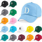 Kids Embroidery Baseball Cap Girls Boys Junior Childrens Hat Summer A Z Sky Blue