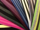 Excellent Range Of Striped Viscose Lycra Knitted Jersey Stretch Fabric Material