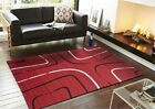 NEW Extra Large Floor Rug Patterned Modern Red Black White Carpet FREE DELIVERY