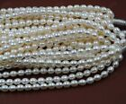 AAA high luster freshwater cultured pearl loose rice pearl string 7-8mm