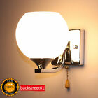 New Modern LED Glass Small Wall Lamp sconce Lights Round Bedroom Bedside Lights