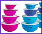 TUPPERWARE 4 THATS A BOWL SERVING STORAGE MIXING 32-19-12-6 PINK OR BLUES BOWLS