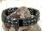 THERAPEUTIC Men's Women's 100% Magnetic Hematite Bracelet Anklet 3 row Faceted