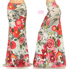 Rose Floral high waist fold over maxi long skirt S/M/L/XL
