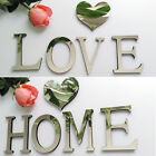 New 3D English Letters Acrylic Mirror Wall Stickers DIY Home Wall Decals 2017