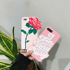 3D Pink Words Beautiful Rose Soft Silicone Case For iPhone 7 7Plus  6 6S Plus