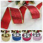 Wire-Edged Sparkle Glitter Ribbon Weeding Party Home Scrapbooking DIY Gift Decor