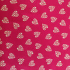 100% Cotton Xmas Fabric - Red with Gold Hearts - Fabric Material Metre