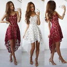 Ladies Womens Sleeveless Lace Formal Dress Summer Bridesmaid Evening Dresses
