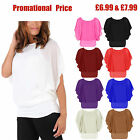 New Ladies Womens Oversized Batwing Chiffon Blouse Tank Top 2 in 1 Sizes S-XXL