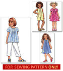 SEWING PATTERN! MAKES TOP~DRESS~SHORTS~PANTS! CHILD SIZE 2 TO 8! GIRLS! EASY!