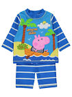 Boys Swimsuit Peppa Pig George UV40+ 2 Piece Swim Set Sunsafe Surfsuit NEW BNWT
