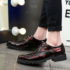 British Mens dress shoes black pointed toe fashion business casual shoes size US
