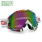 Flexible Adult Motorcycle Motocross Bike Cross Goggles Eye Wear clear muti lens