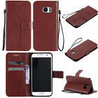For Samsung Galaxy S8/S8 Plus Retro Tree Pattern Leather Wallet Stand Case Cover