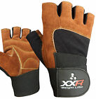 XXR BROWN Weight Lifting Gloves Strengthen Training Fitness Gym Exercise Workout