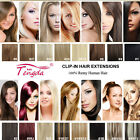 """New 14""""-26"""" Clip in 100% REMY Human Hair Extensions Any colors Straight 7pcs/set"""
