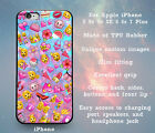 Girly Pink Emojis Slim Rubber Case Cover Skin for iPhone 5 5s 5c SE 6 6s 7 Plus