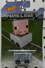 6 PIG 2017 MINECART MINECAFT HW HOT WHEELS