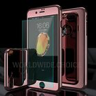 360° Full Body Protect Mirror Case Cover+9H Tempered Glass for iPhone 6 7 Plus