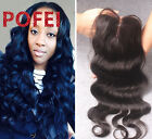 "4""x4"" Body Wave 100% 8A Brazilian Human Hair Lace Closure 3part Top Closure"