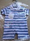 new newborn baby boy sleep set blue strip gift baby shower