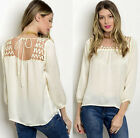 Satin Sheer Loose Lace Up cross strap Cutout caged Metal detail Top tunic Blouse