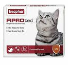 BEAPHAR FIPROTEC CAT FLEA SPOT ON FIPRONIL VET STRENGTH 1,3,6 TREATMENT SOLUTION