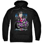 Betty Boop CITY CHOPPER Winking on Bike Licensed Sweatshirt Hoodie $41.71 USD