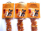 Raw Baltic amber for pets, collars for dogs and cats, flea and tick protection.