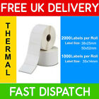 ZEBRA Compatible Thermal Labels 35x14mm 38x25mm 50x52mm 1,000 / 2,000 per roll