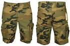 MENS NEW CARGO SHORTS JACK & JONES OLIVE GREEN CAMO COLOUR SIZES XS-XXL RRP £35