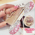 Girly Soft Silicone Bling Diamond Case For iPhone XS Max XR 8 Plus Strap Cover