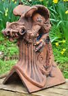 Gothic dragon decorative roof finial 90° angled stone ridge tile new design 48cm