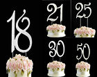 21 diamante cake topper