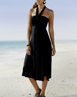 size XL- BLACK - BLUE CONVERTIBLE DIVA SUN DRESS MONROE & MAIN SUMMER SKIRT WRAP