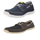 Mens Grey/Navy Light Weight Clarks Cloud Steppers Canvas Shoes Marcus Edge