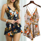 New Summer Beach Women's Casual Sleeveless Floral Boho Jumpsuit Rompers Playsuit