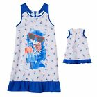 """Girl 4-14 and 18"""" Doll Matching Patriotic Nightgown American Girls Dollie Me"""