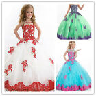 Flower Girl Dresses for Wedding Bridesmaids Kids Prom Pageant Party Custom made