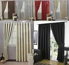 NEW THERMAL BLACKOUT CURTAINS Eyelet Ring Top OR Pencil Pleat FREE Tie backs