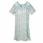 New Sag Harbor Women's Plus Size Floral Nightshirt Gown with Lace Trim
