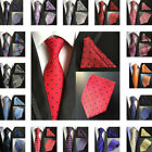 Classic Mens 8cm Silk Tie Pokcet Square Set Paisley Party Handkerchief Neck Ties