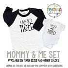 Mommy and Me Set I Am So Tired/I Am So Not Tired Shirts Mom and Baby New Gift