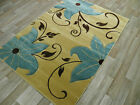 FLORAL  RUGS HAND CARVED GREEN RUG LILY DESIGN GREEN BROWN BLACK RED FLORAL RUGS