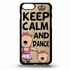 Keep calm and dance cartoon cute quote cover case for Iphone 5 5C 6 6s 7 plus