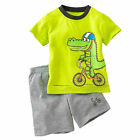 Toddler Kids Boys Cartoon Summer T-shirts + Shorts Outfits Clothes Set Tracksuit