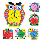 Baby Time Learning Cartoon Animal DIY Clock Educational Crafts Toy